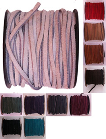 Suede lace. 75 ft. spool. Specify: colour