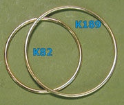 Brass hoops, for dream catchers. 6 inch