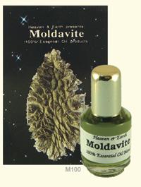 Moldavite gemstone essential oil