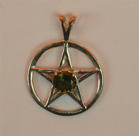 Extra Large Moldavite Pentacle 25mm