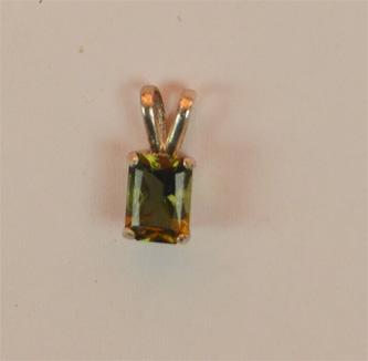 Small Moldavite Pendant
