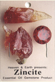 Essential Oil Gemstone Incense ZINCITE