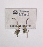 Moldavite drop ear-rings