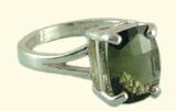 Square ring moldavite, large