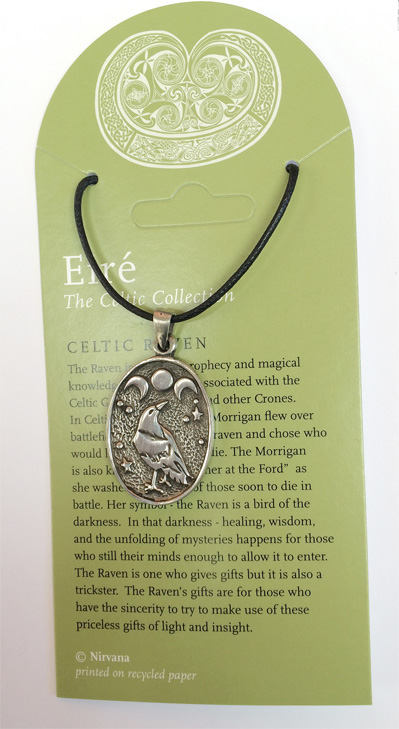 The Celtic Collection- oval Celtic Raven