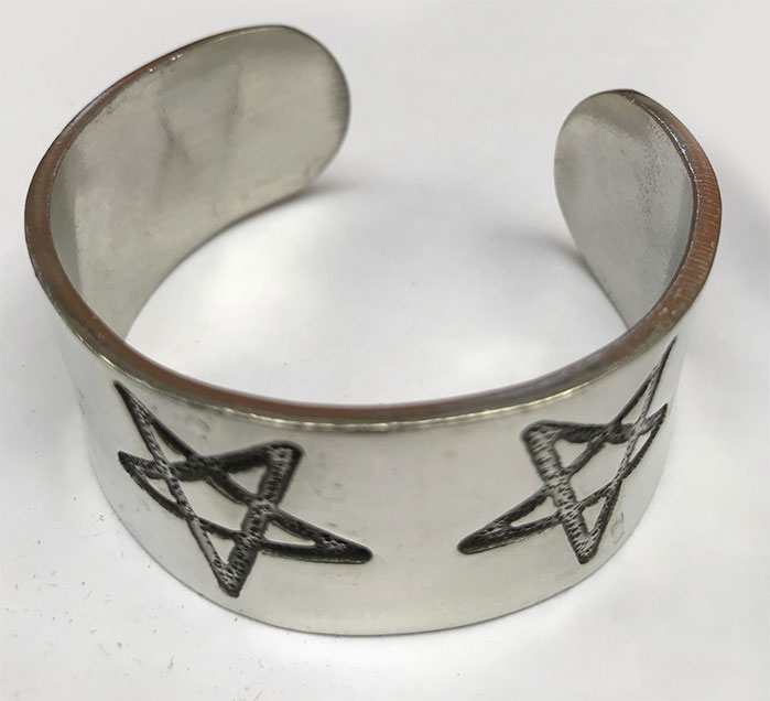 Pewter Bangle Pentacle