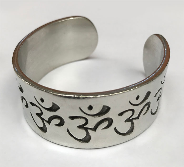 Pewter Bangle Om