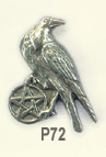 The Wiccan Collection-raven pentacle