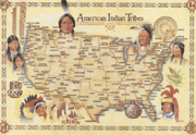 Native American Indian Tribes postcard 4 inch x 6 inch