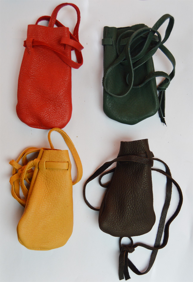 Buckskin bag, assorted colours