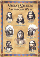 Great Chiefs of the American West postcard 5 inch x 7 inch