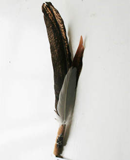 Smudging Fan, Tom Grey Elk Pueblo Picuris 12 - 14 inch
