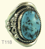 Large turquoise ring, M