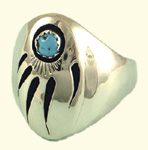 Bear paw ring, M