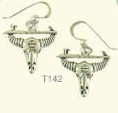 Buffalo and pipe ear rings