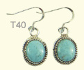 Turquoise drop ear rings