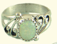 Opal chip ring