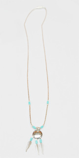 Liquid silver  turquoise necklace